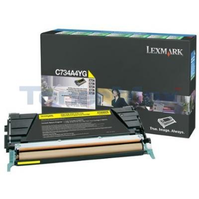 LEXMARK C734 TONER CART YELLOW RP TAA